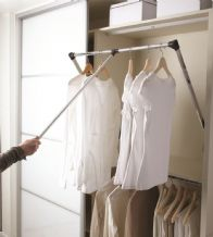 PULL-DOWN WARDROBE HANGING RAIL in 2 extendable sizes (ECF WWPDHR1 / WWPDHR2)